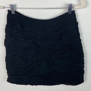 Yumi Kim Black Ruffle Mini Skirt Size Small HE-001
